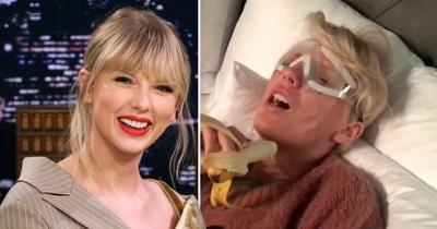 Taylor Swift lloró por una banana luego de su cirugía. ¡Mirá el video!