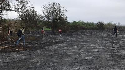 Hallaron animales de varias especies calcinados tras incendio en Parque Guasú