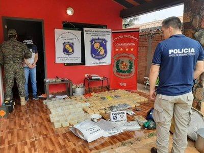 Incautan más de 100 kilos de droga que iba a ser distribuida en Central