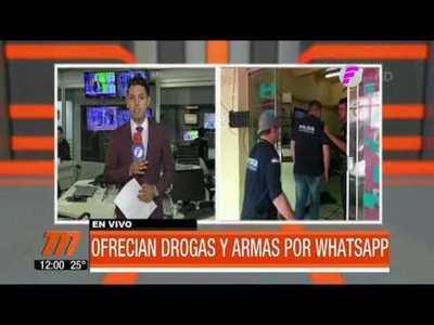 Miembros del (PCC) ofrecían drogas y armas por WhatsApp