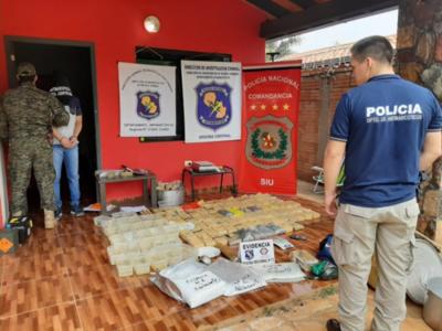 Unos 100 kilos de cocaína fueron incautados en Itauguá