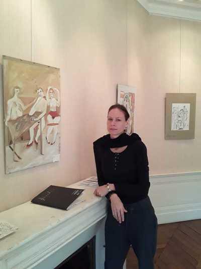 """Embajada del Paraguay en Francia habilitó muestra de pinturas """"MA RUE"""""""