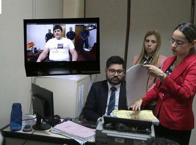 Realizan audiencia a través de videoconferencia