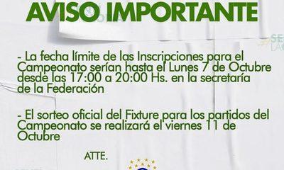 Concluye plazo para inscripción de clubes en Franco