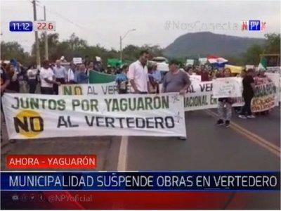 Municipalidad de Yaguarón suspende definitivamente obras de vertedero