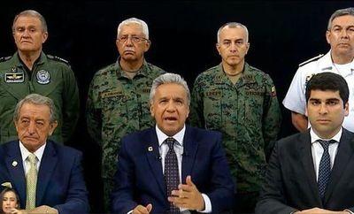 Crisis en Ecuador: Presidente Moreno traslada capital a Guayaquil acusando golpe de Estado