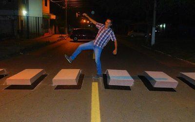 ¡Pintaron la primera franja peatonal en 3D!