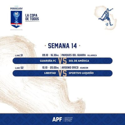 Arrancan los cuartos de final de la Copa Paraguay
