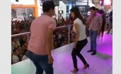 Mariela Bogado bailó música tradicional de Bolivia