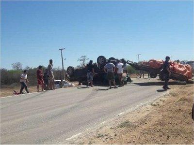 Salen heridos en vuelco, camino al Rally del Chaco