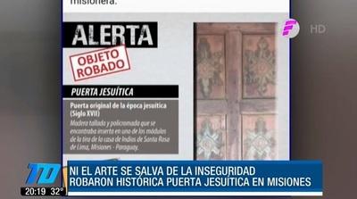 """Delincuentes roban patrimonio histórico en las """"narices"""" de policías"""