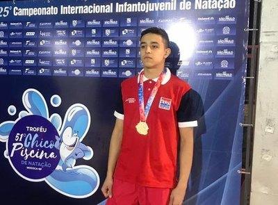 Maximiliano Benítez se bañó con oro en Brasil