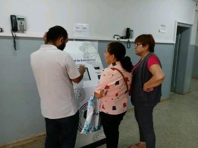 Terminal de Autoservicio, nuevo sistema habilitado para agendamientos de turnos en IPS Encarnación.