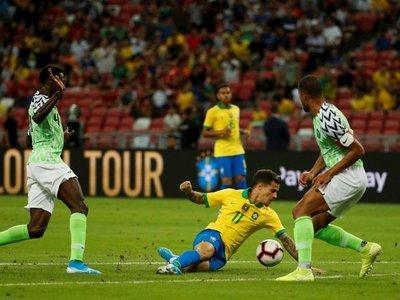 Brasil no pasa de un agrio empate con Nigeria
