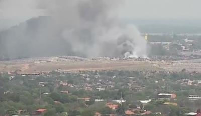 HOY / Reportan nuevo incendio en vertedero Cateura: intensa humareda afecta a vecinos