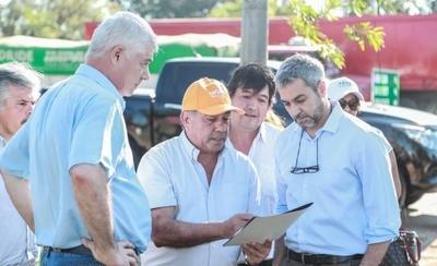 HOY / Abdo verifica avance de obras de pavimentación en varios tramos de Central