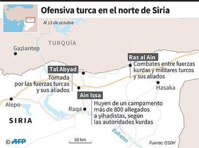 Tropas sirias se despliegan en zonas kurdas para enfrentar ofensiva turca