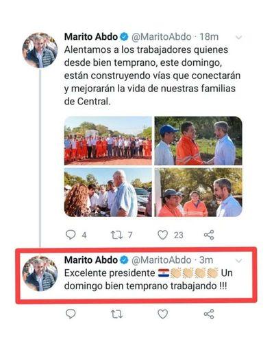 Culpan a CM de error en cuenta de Twitter de Abdo