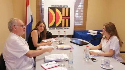 Reunión con representante de la Aecid sobre derechos humanos
