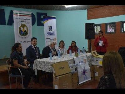 GOBERNACIÓN DE ITAPÚA ENTREGA MOBILIARIOS Y EQUIPOS INFORMÁTICOS AL CENADE