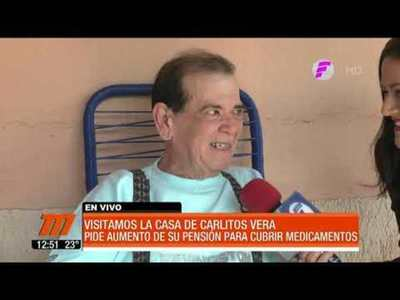 Carlitos Vera pide aumento de su pensión