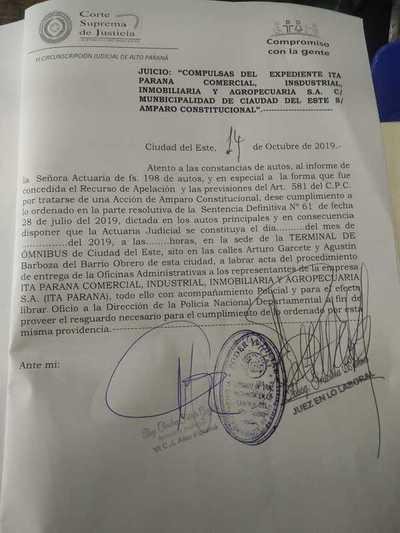 Juez en lo laboral ordena cumplimiento de sentencia definitiva contra la comuna