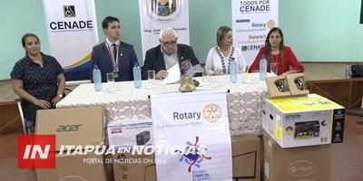 ENTREGAN MILLONARIO APORTE EN MUEBLES Y ENSERES AL CENADE