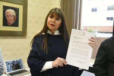Diputada liberal presenta pedido de perdida de investidura contra Rivas, Quintana y Portillo