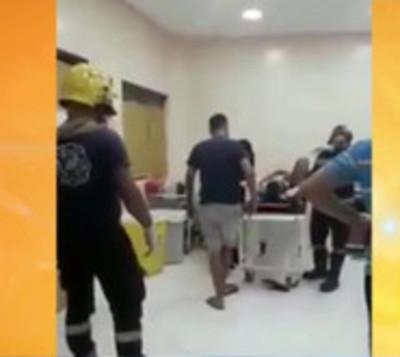 Hombre violento ocasiona cuantiosos daños en hospital