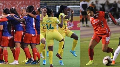 Tres triunfos colombianos en el inicio de la Libertadores femenina