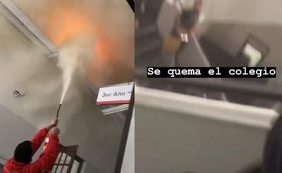 Principio de incendio causa susto en Inter