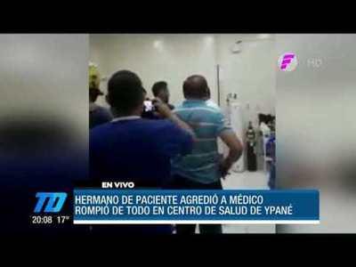 Hermano de paciente agredió a un médico