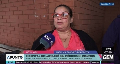 HOY / Funcionarios de Hospital de Lambaré se encadenan por falta de insumos y personal en guardias