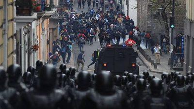 Calma en Ecuador tras retirada