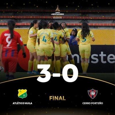 Huila pisa terreno de cuartos de final en la Libertadores femenina tras golear a Cerro Porteño