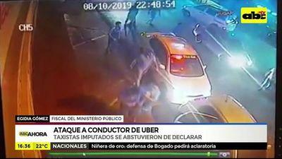 Ataque a conductor de Uber: Taxistas imputados se abstuvieron de declarar