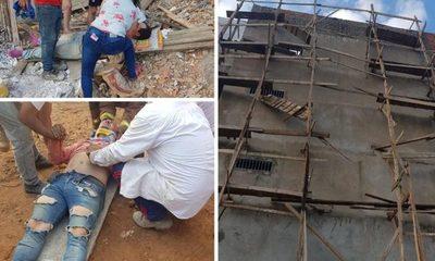 Obreros caen de edificio en construcción en CDE