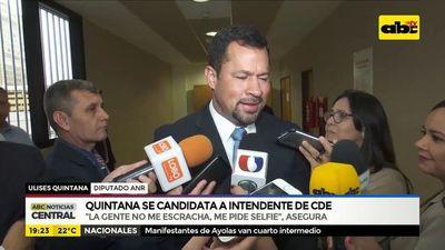 Quintana se candidata a intendente de CDE