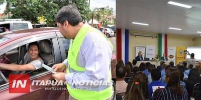 SE CUMPLIÓ ESTA MAÑANA LA JORNADA DE EDUCACIÓN Y SEGURIDAD VIAL EN LA GOBERNACIÓN