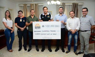 Prieto entrega Gs. 500 millones al Consejo Local de Salud