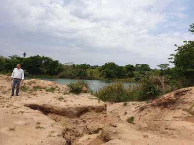 Fiscalía confirma que empresa extraía arena sin licencia ambiental en Tory Vete