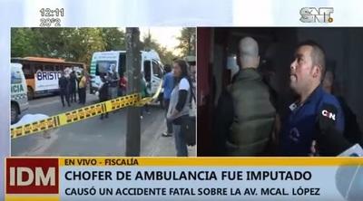 Fiscal imputa por homicidio culposo a chofer de ambulancia