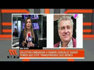 Hacienda solicita embargo de bienes de Ramón González Daher