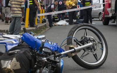 Las tres ciudades de Central con más accidentes de moto
