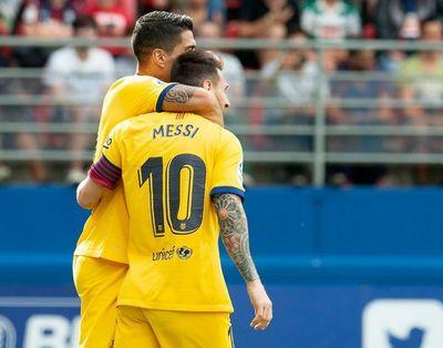 Messi guió el triunfo del Barcelona