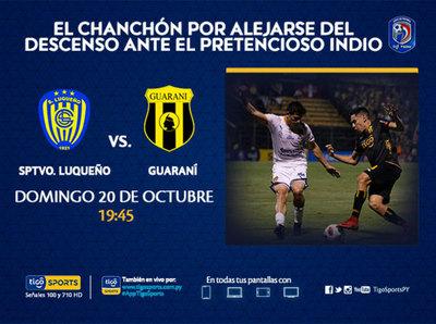 Con metas distintas, Luqueño y Guaraní juegan en el Nido