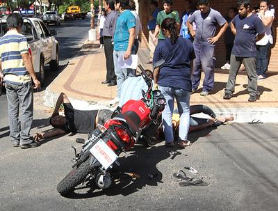 Ypané, Villa Elisa y San Lorenzo encabezan lista de motociclistas accidentados en Central