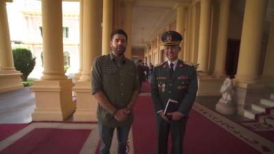HOY / Sugestiva visita: abren puertas del Palacio al favorecido con millonaria licitación de Petropar