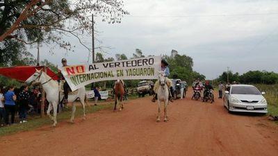 Pobladores de Yaguarón refuerzan medidas contra vertedero ilegal