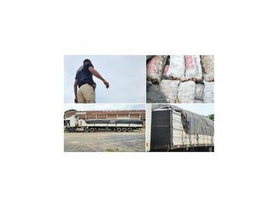 Detienen  carga ilegal de 35 toneladas de frutihortícolas